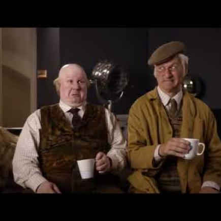 Julian Dutton with Matt Lucas in Pompidou, BBC2